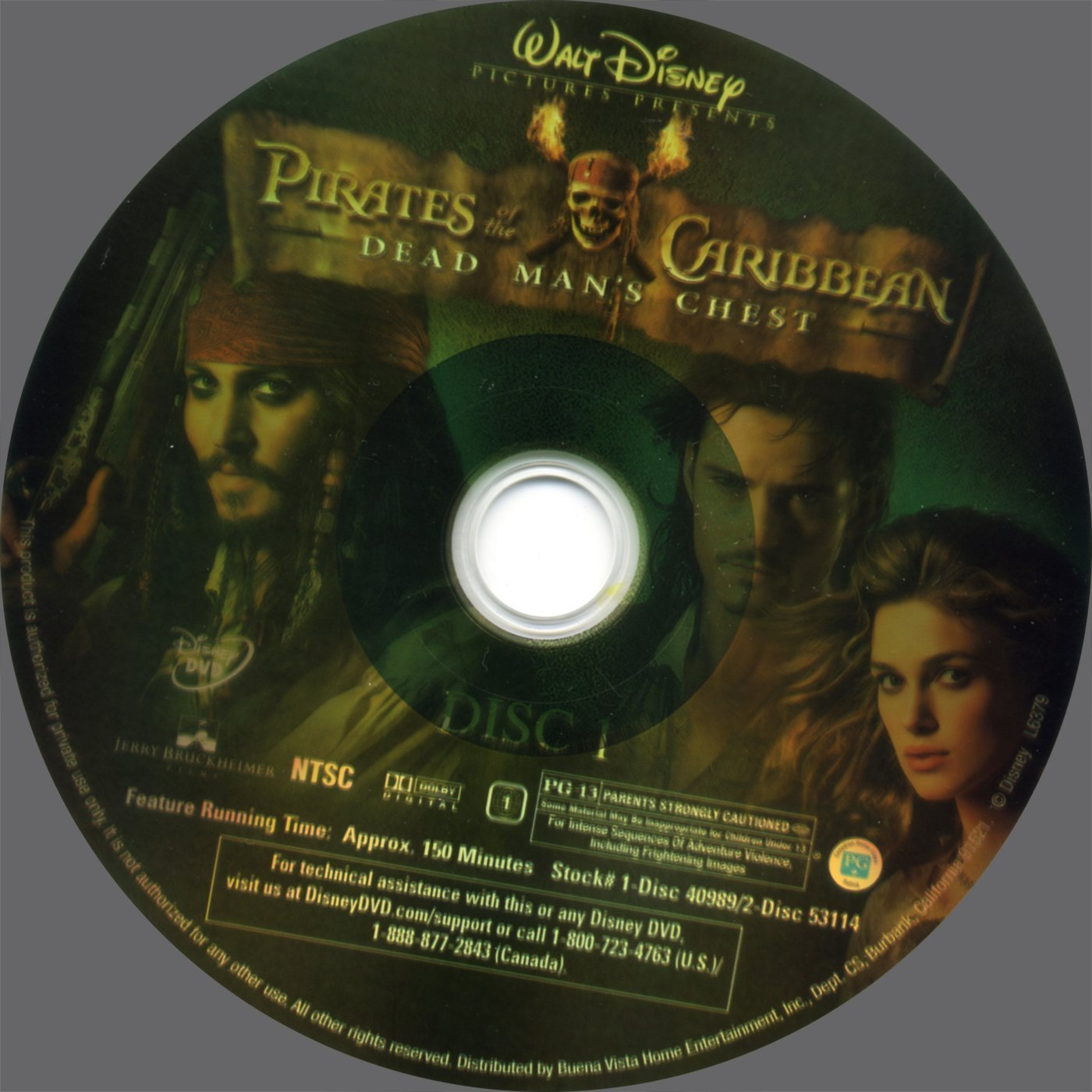 Pirates Of The Caribbean Dead Man S Chest 2006 Ws R1 Dvd Covers And Labels