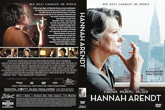 dvd cover Hannah Arendt R1