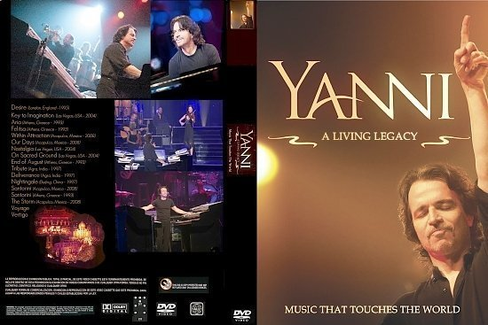 dvd cover Yanni Living a Legacy (2011) R0 Custom