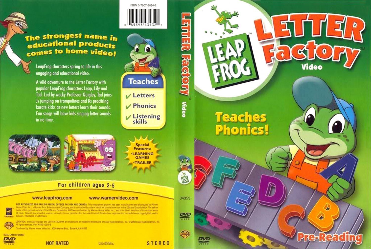dvd cover leapfrog letter factory