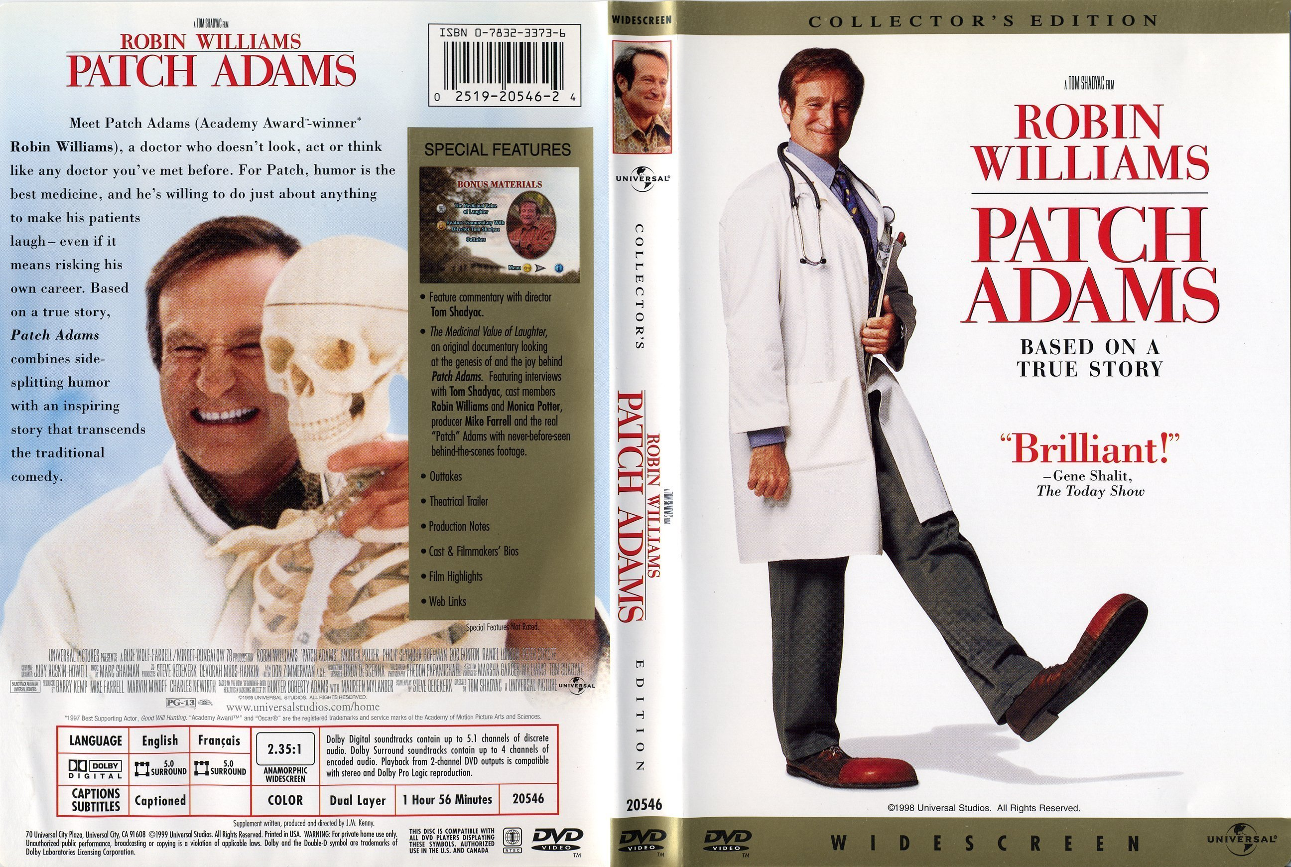 a critique of the movie patch adams directed by tom shadyac Profile of and interview with dr hunter d adams, better known as patch, who has spent his adult life criticizing what he sees as greed of the medical profession 53-year-old physician is portrayed in movie patch adams, directed by tom shadyac film stars robin williams as a doctor who sees medicine itself as critically ill from an.