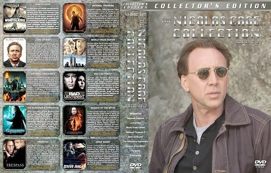 dvd cover Nicolas Cage Collection Vol. 2