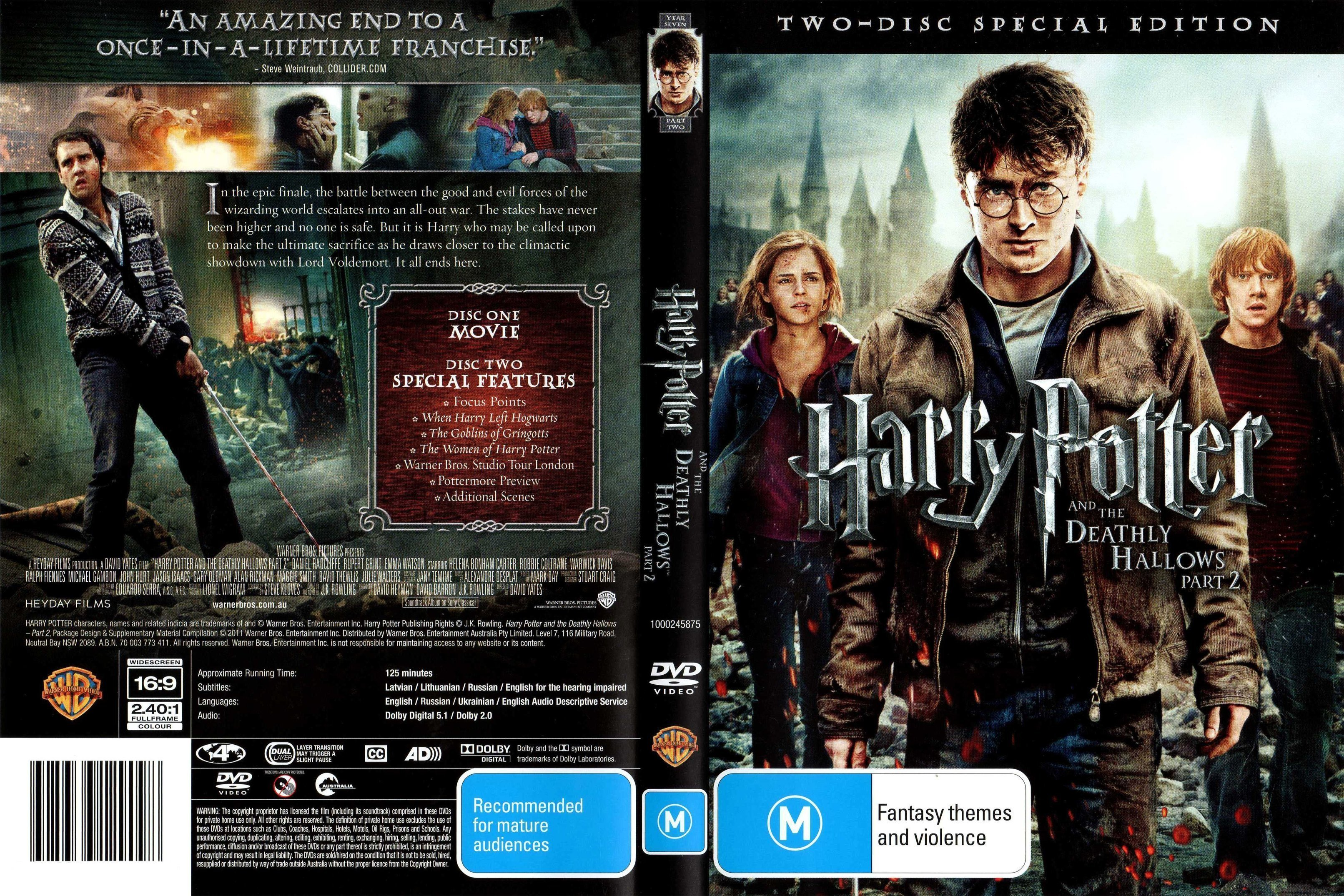 Harry Potter And The Deathly Hallows Part 2 2011 Ws Ce R4 Dvd Covers And Labels
