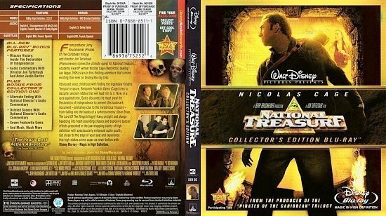 dvd cover National Treasure Collector's Edition