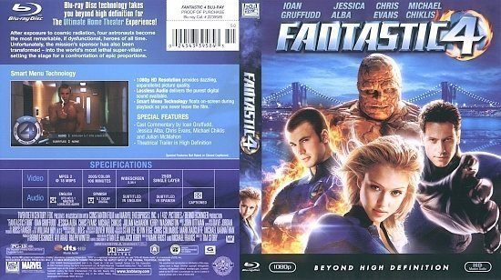 dvd cover Fantastic 4 (2007) Blu-Ray