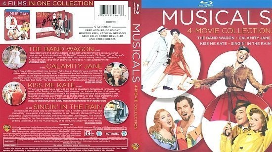 dvd cover Musicals - 4 Movie Collection Blu-Ray