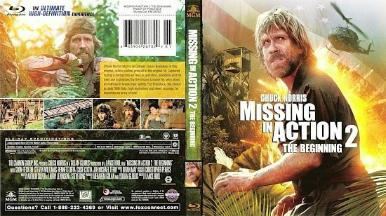 dvd cover Missing In Action 2 The Beginning