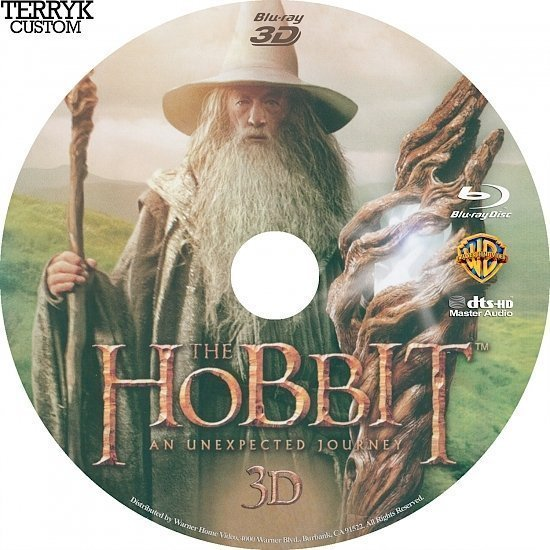 dvd cover The Hobbit: An Unexpected Journey 3D Blu-Ray