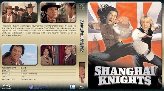 dvd cover Shanghai Knights