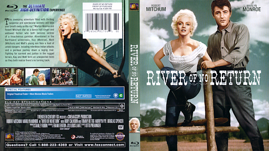 dvd cover River Of No Return