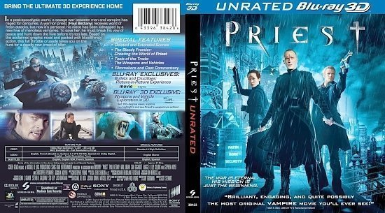 dvd cover Priest 3D