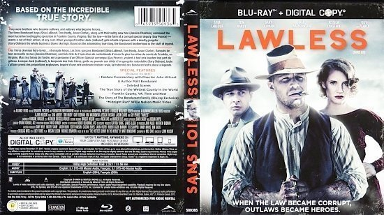 dvd cover Lawless