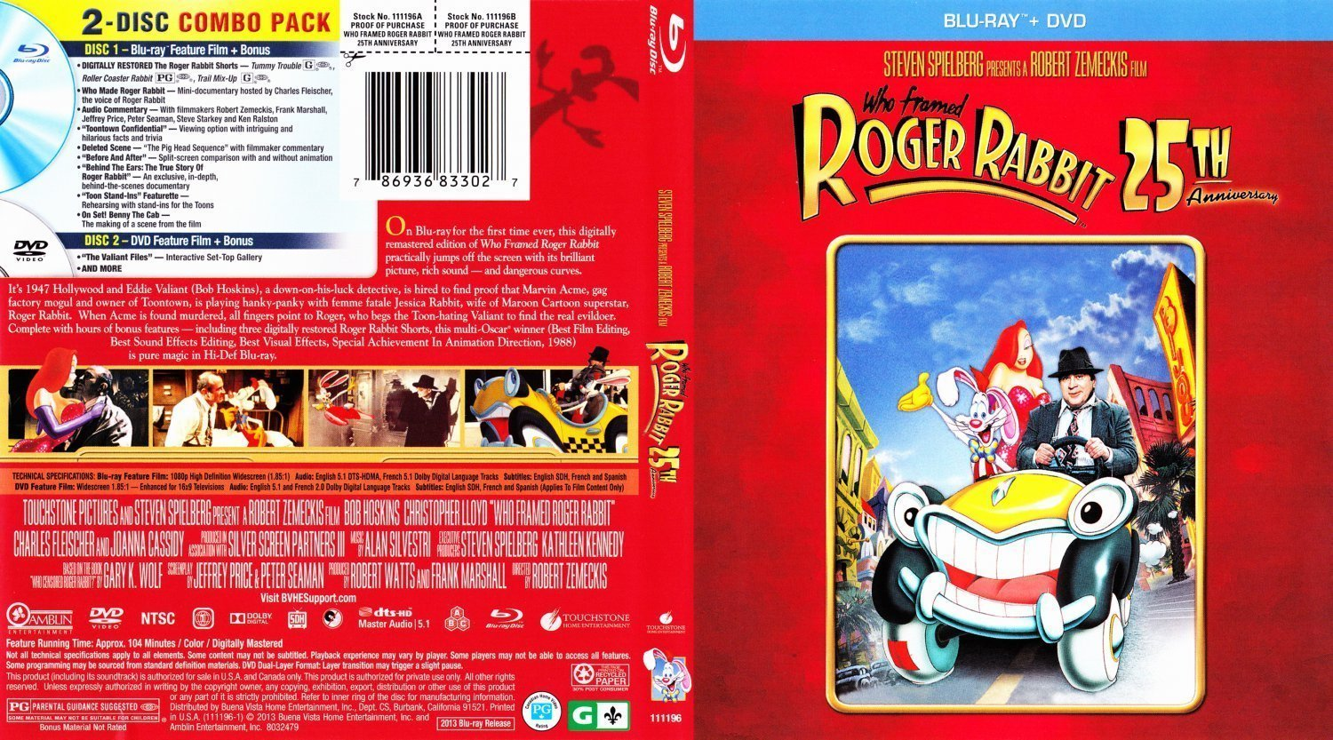 dvd cover who framed roger rabbit 25th anniversary edition