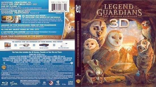 dvd cover Legend Of The Guardians The Owls Of Ga'Hoole 3D