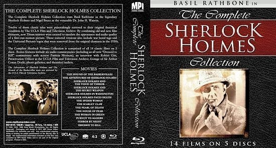 dvd cover Sherlock Holmes Collection
