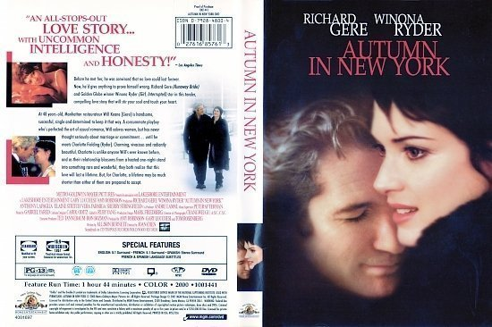 dvd cover Autumn in New York (2000) WS R1