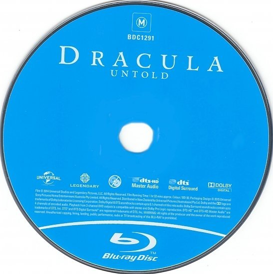 dvd cover Dracula Untold