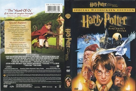 dvd cover Harry Potter And The Sorcerer's Stone (2001) WS R1