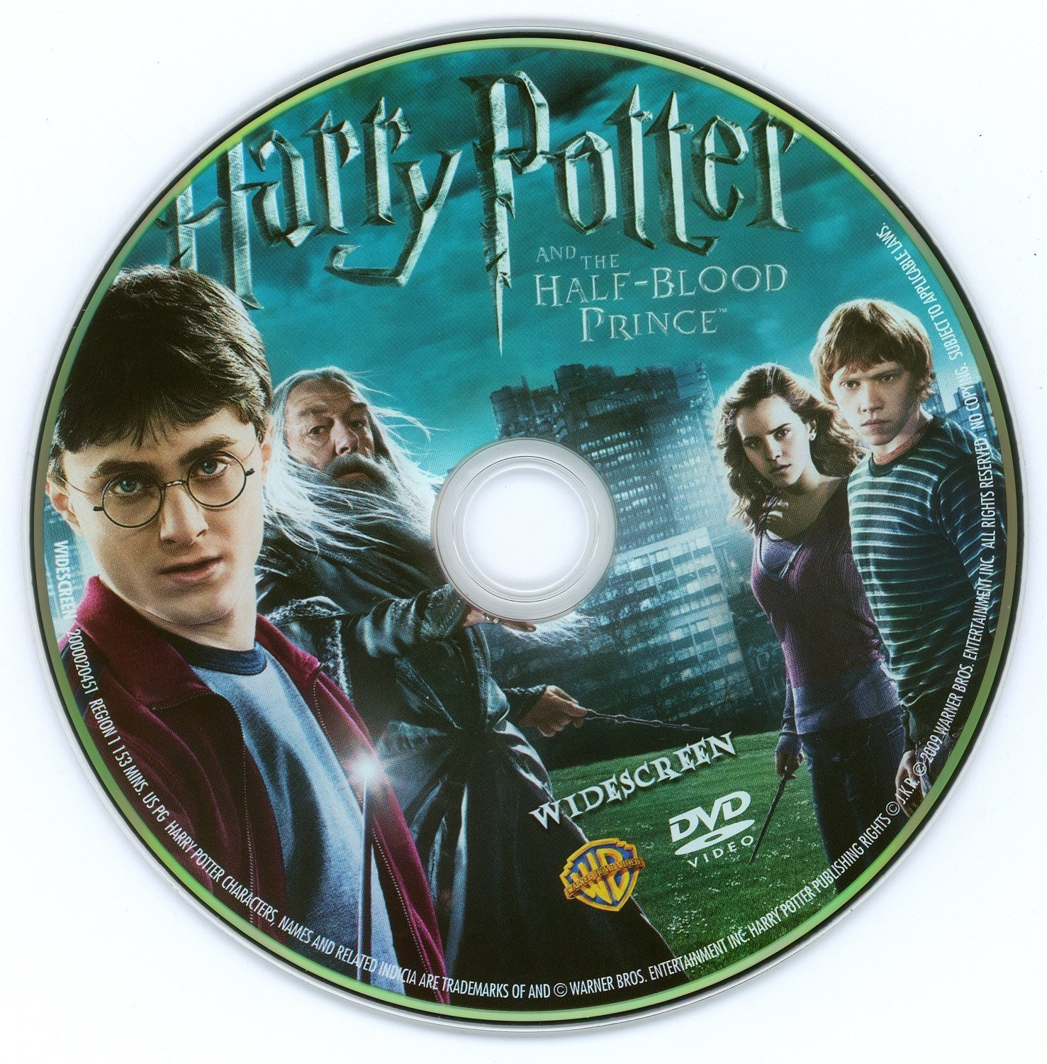Harry Potter And The Half Blood Prince 2009 Ws R1 Dvd Covers And Labels
