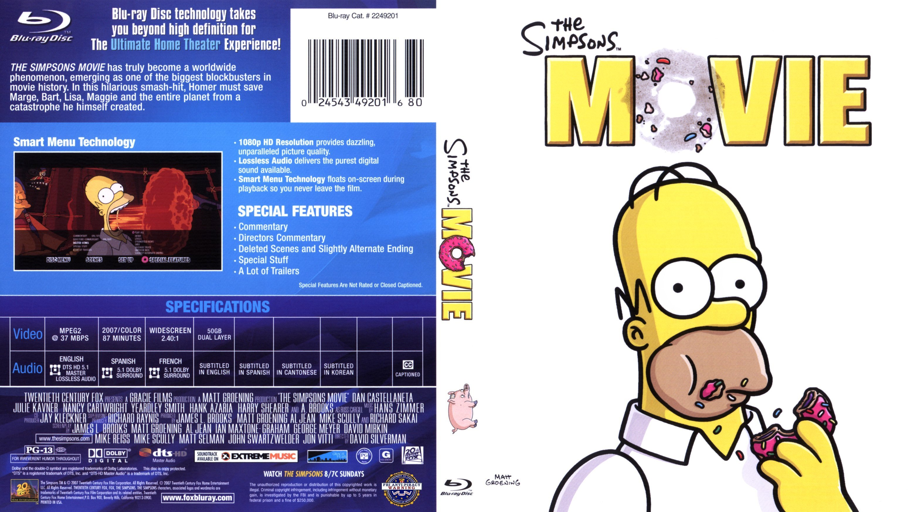 The Simpsons Movie 2007 Blu Ray Cover Dvd Covers And Labels