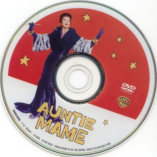 dvd cover Auntie Mame (1958) WS R1