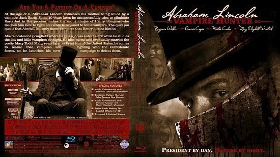 dvd cover Abraham Lincoln: Vampire Hunter