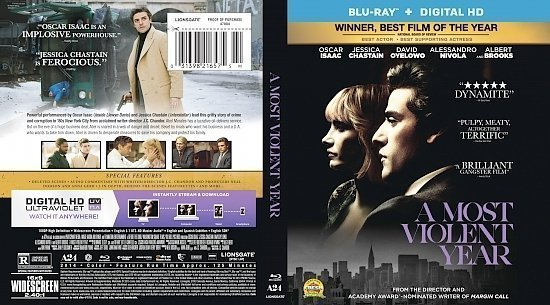 dvd cover A Most Violent Year R0 Custom