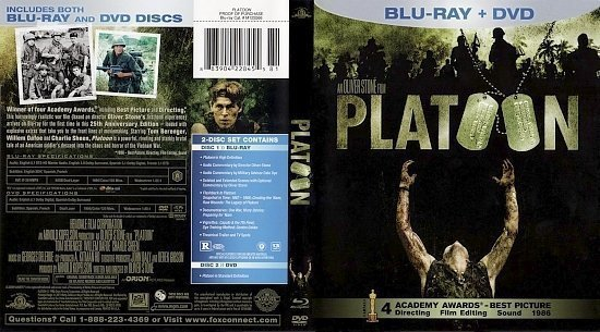 dvd cover Platoon