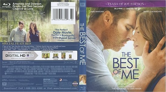 dvd cover The Best Of Me R1 Blu-Ray