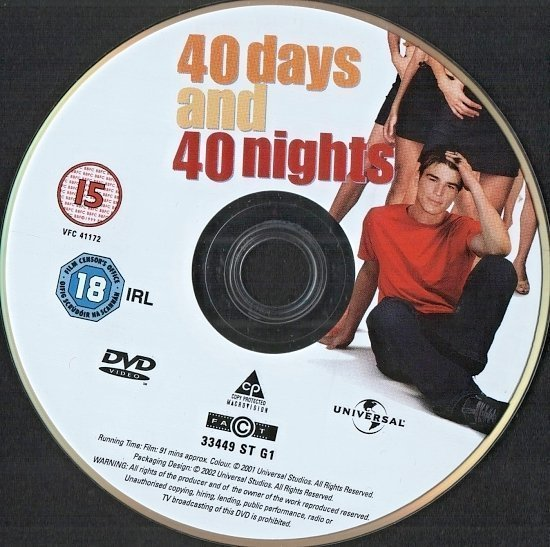 dvd cover 40 Days and 40 Nights (2011)