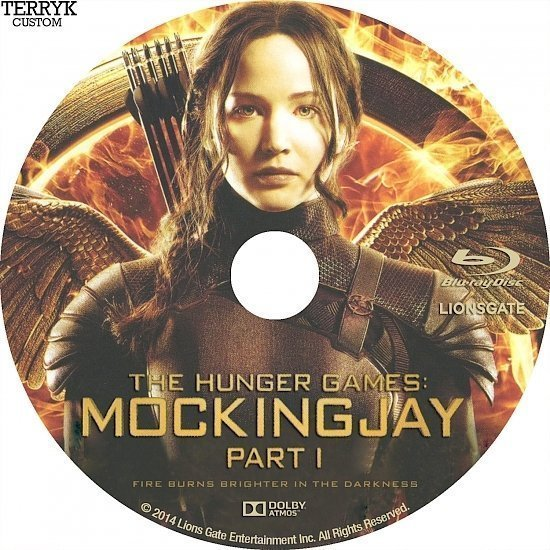 dvd cover The Hunger Games: Mockingjay Part 1 Custom Blu-Ray Label