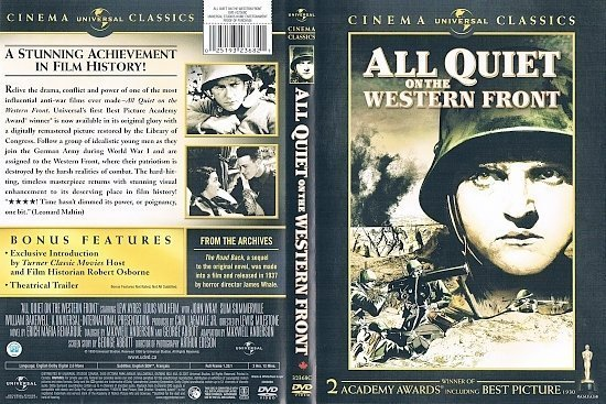 dvd cover All Quiet on the Western Front (1930) R1