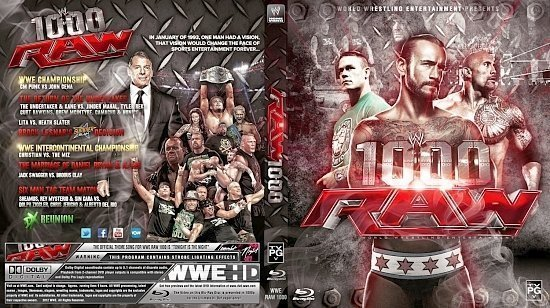 dvd cover WWE Raw 1000