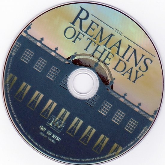 dvd cover The Remains Of The Day (1993) SE R1