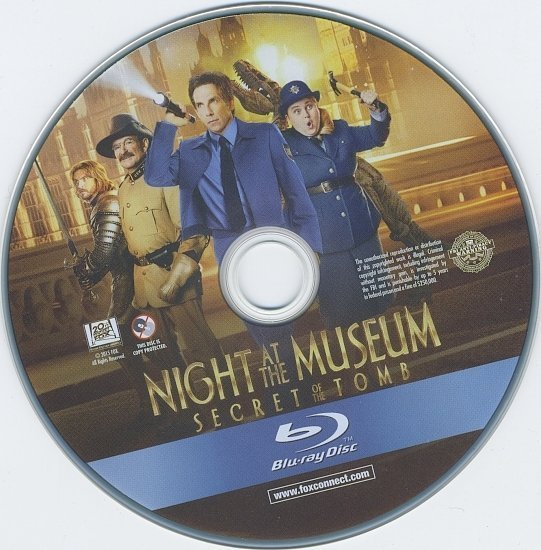 dvd cover Night At The Museum: Secret Of The Tomb R1 Blu-Ray