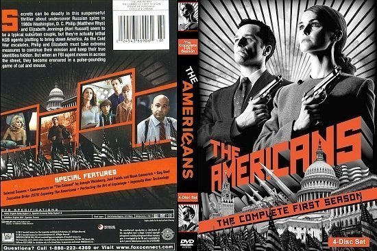 dvd cover The Americans: The Complete First Season Custom