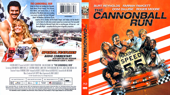 dvd cover The Cannonball Run