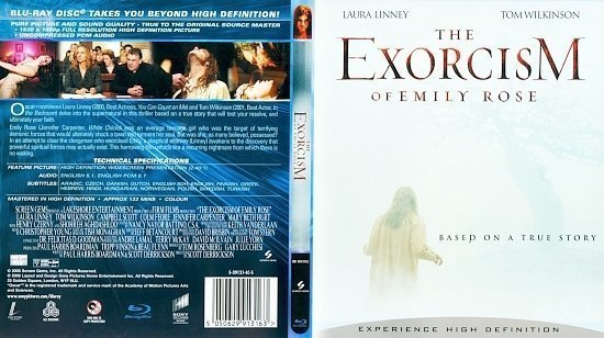 dvd cover The Exorcism of Emily Rose Blu ray Scan