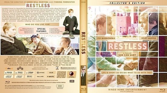 dvd cover Copy of Restless Blu Ray 2012