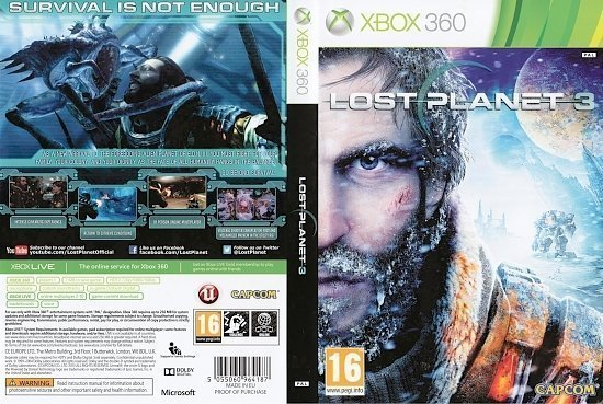 dvd cover Lost Planet 3 PAL Xbox 360