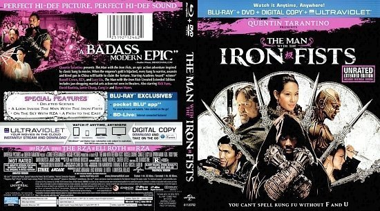 dvd cover The Man With The Iron Fists