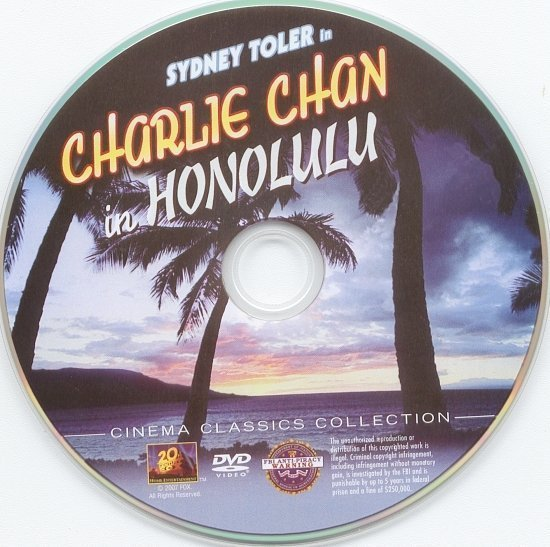 dvd cover Charlie Chan In Honolulu (1938) R1