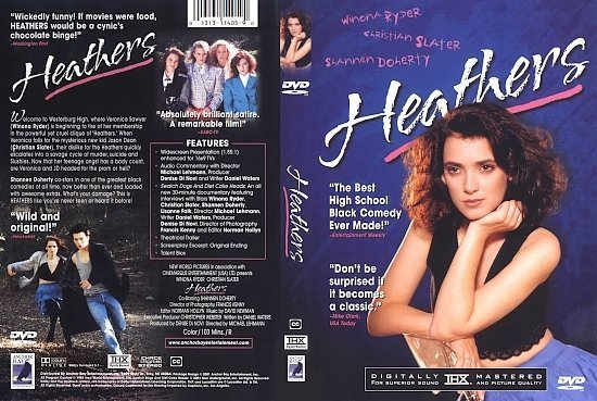 dvd cover Heathers (1988) WS R1