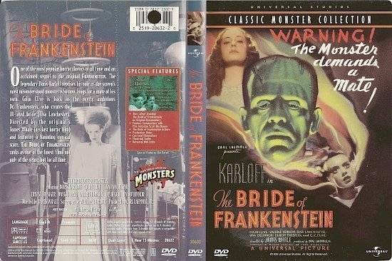 dvd cover The Bride Of Frankenstein (1935) R1
