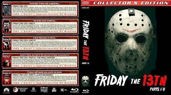 dvd cover Friday the 13th : Parts 1 5