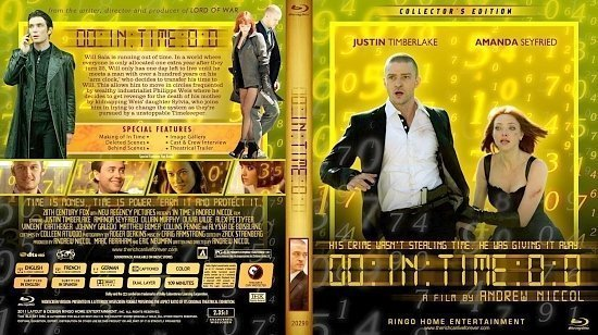 dvd cover Copy of In Time Blu Ray 2011
