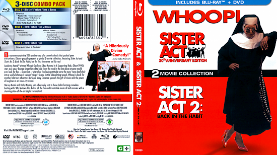dvd cover Sister Act / Sister Act 2