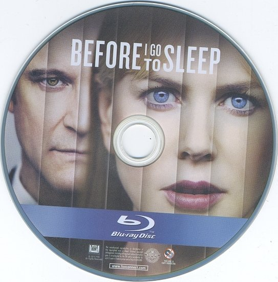 dvd cover Before I Go To Sleep Blu-Ray & Label