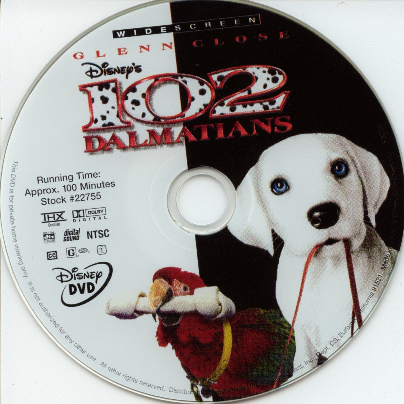 102 Dalmatians 2000 Ws R1 Dvd Covers And Labels