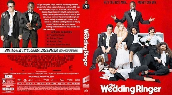 dvd cover The Wedding Ringer R0 Custom BD Cover & Label